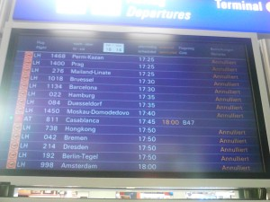 Lufthansa Anzeigetafel