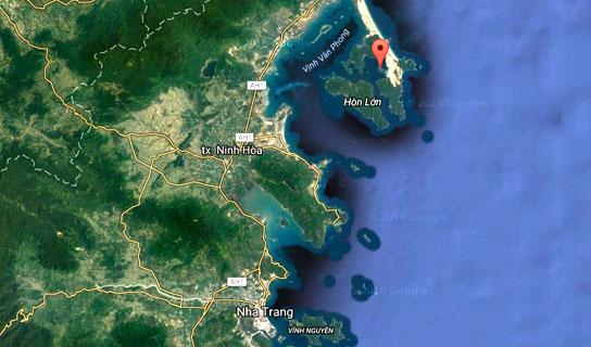 Whale Island von Google Maps
