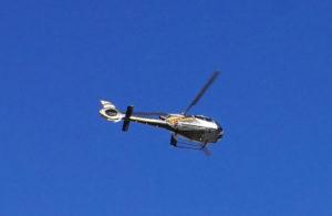 Helicopter über Hong Kong