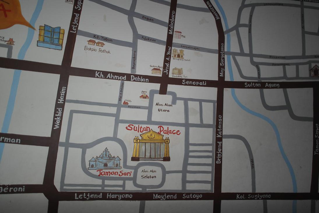 Yogyakarta Stadtplan