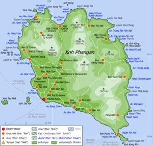 Karte von Koh Phangan jpg