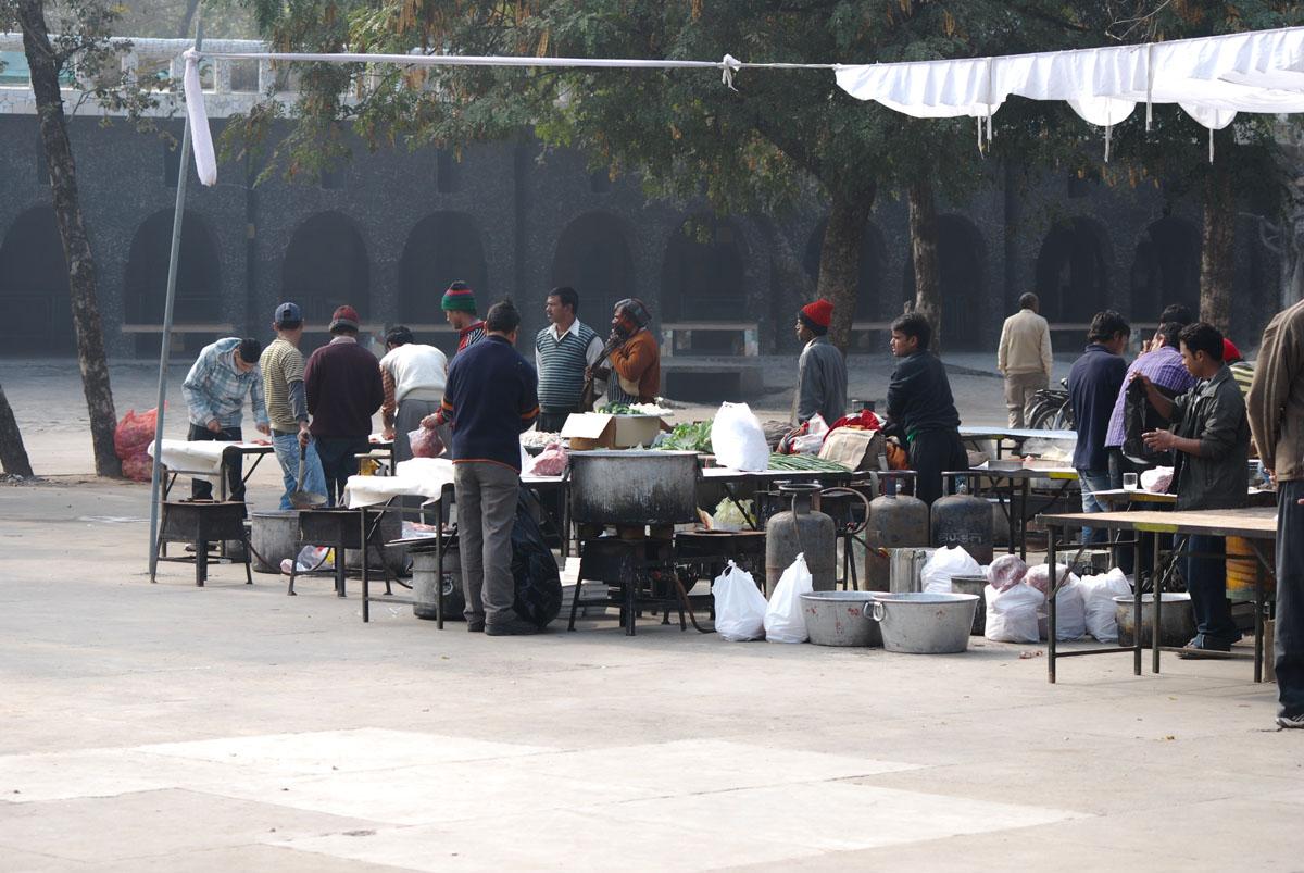 Ein Markt in Indien