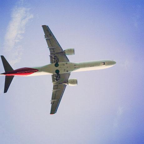 Flugzeug in Shanghai