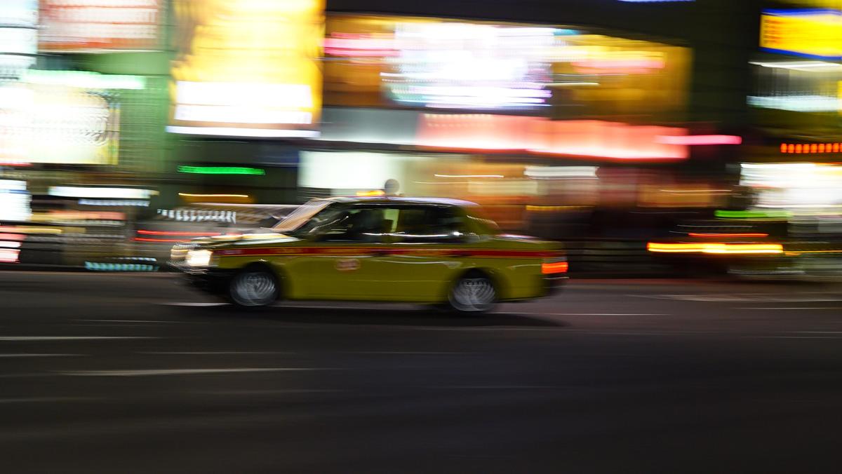 Taxi in Tokio